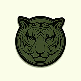 Bastion Tactical Combat Badge PVC Morale Patch Hook and Loop Patch - Tiger ODG