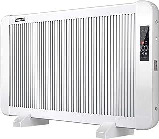 Lxn Calentador eléctrico del Panel, Calentador Plano del convector del Vidrio cristalino con la Pantalla del LED y teledirigido, 1600W, Blanco