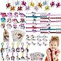vamei 84 Piezas Piñata Unicornio Niño Aarticulos de Fiesta Niño Unicornio Piñatas de Cumpleaños Diademas Unicornio Pulseras de Juguete Tatuajes Temporales Niños Anillo Niñas Pinatas de Cumpleanos