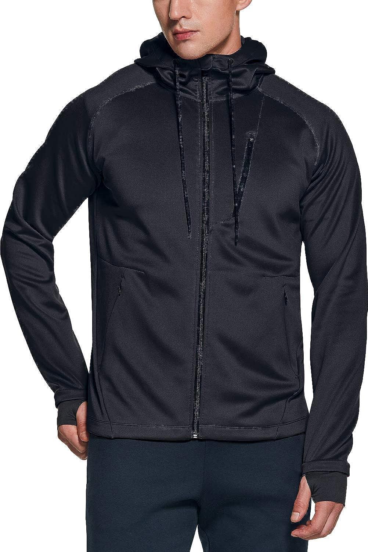 TSLA Men's Full Zip Up Hoodie Performance Bargain sale Long Import Jacket Sleeve Tr