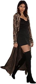 103f73b07cd3c Veste Velours Femme Grandes Tailles Mode Cardigan Long Ample Manteau  Automne Hiver à Manches Longues Outwear