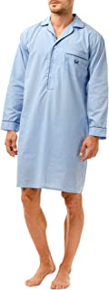 Haigman Mens Nightshirt with Cotton. M, L, XL, XXL. Fine Quality, Easy Care.