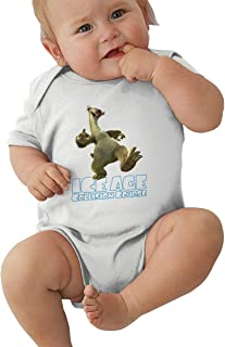 Wokeyia Ice Age Collision Course Comfortable Romper Short Sleeve Jumpsuits for Baby Boy Onesies Black