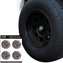 Graphics and More Speed Demon Flaming Hot Rod Tire Wheel Center Cap Resin-Topped Badges Stickers - 2.2