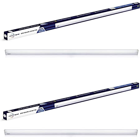Wipro Garnet 20-Watt LED LED Batten (Pack of 2, White) (D532065_2)