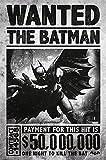 Póster Batman Arkham Origins 'Wanted The Batman - Payment $50.000.000/ Se busca al Batman por 50.000.000 $' (61cm x 91,5cm) + 1 paquete de tesa Powerstrips® (20 tiras)