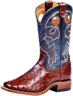 American Boots - Cowboy Exotic (Ostrich) BO-4506-65-E (Normal Walking) - Men - Blue/Brown