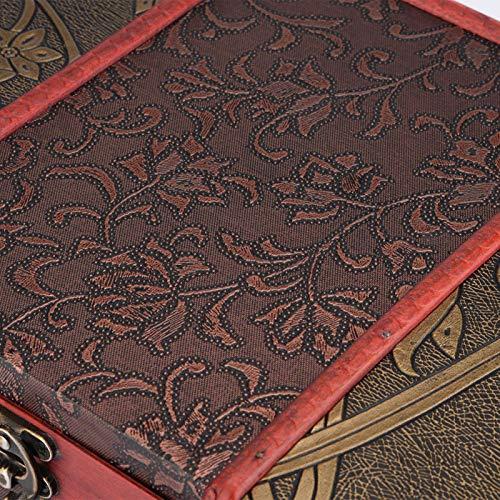 Mothinessto Caja de Almacenamiento de joyería Caja de Madera Delicada para decoración de Mesa de Ministerio del Interior(Grass Flower)