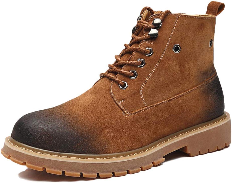 457ee54373f WEGCJU Men's Martin Boots Chukka Wear Hiking Chelsea Desert Boots ...