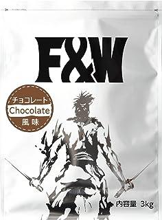 F&W(エフアンドダブリュー) ホエイプロテイン チョコレート風味 3kg 100食分 WPC たんぱく質74% 国産 大容量
