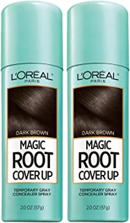 L'Oreal Paris Root Cover Up Temporary Gray Concealer Spray Dark Brown 2 oz (Pack of 2) (Packaging May Vary)