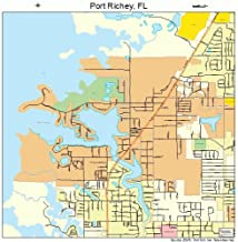 Large Street & Road Map of Port Richey, Florida FL - Printed poster size wall atlas of your home town