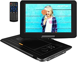 APEMAN Upgraded 17.9'' Portable DVD Player with 14.1'' Swivel Screen Remote Control Support SD Card USB DVD AV in/Out Earphone Speaker 6 Hours Built-in Rechargeable Battery for TV Kids