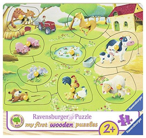 Ravensburger Kinderpuzzle 03683 - Kleiner Bauernhof - 10 Teile Holzpuzzle