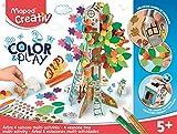 Maped Creativ Color and Play - Coffret multi-activités Arbre en Carton à Colorier et Fabriquer 4 saisons - Jouet Loisir Créatif dès 5 ans