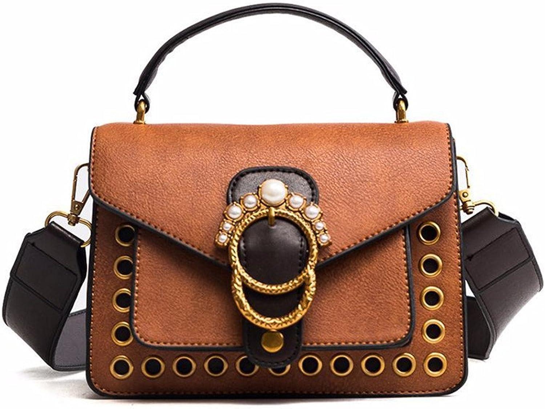 Meaeo Einzelne Umhängetasche Handtaschen Schulranzen Tasche Neuen Weiblichen Tasche Tasche Tasche Persönlichkeit Magnetische An Einheitlichen Umhängetasche,braun B07CSXZYFH  Starke Hitze- und HitzeBesteändigkeit 3a41f3