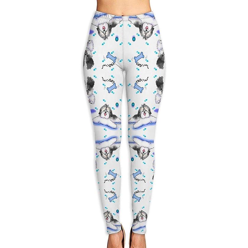 Xayeu Shih-tzu Play Time Yoga Pants for Women Sport Tights Workout Running Leggings