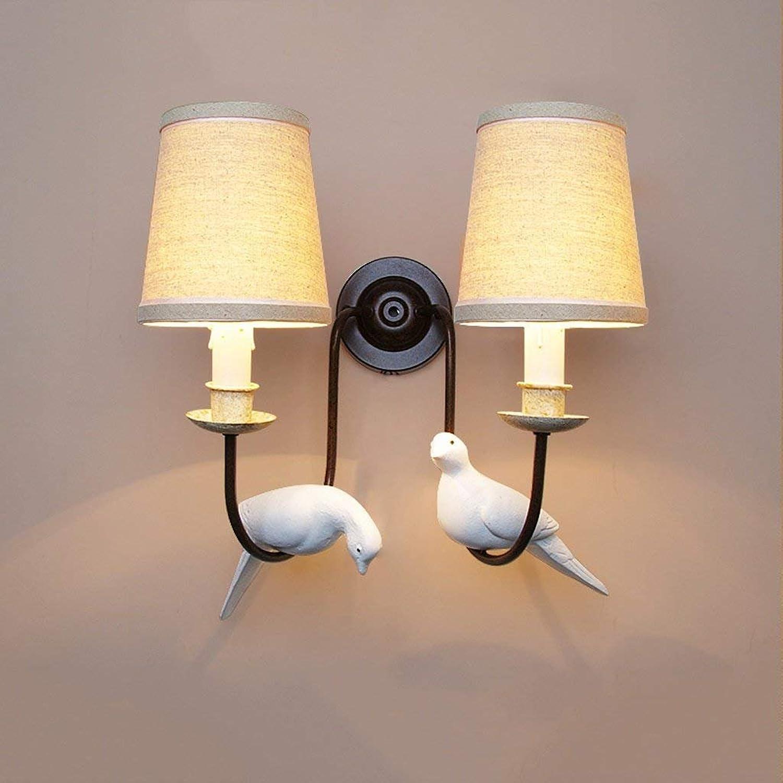 JU Doppelkopf Vogel Wandleuchte Kreative Wohnzimmer Retro Wandleuchte Studie Schlafzimmer Hotel Nachttischlampe B07HL95ST8 | Spezielle Funktion