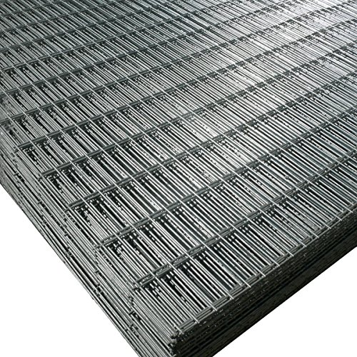 2 Pack of Welded Wire Mesh Panels 2.4m x 1.2m (8ft x 4ft) Galvanized Steel Sheet 75x25mm (3x1') holes, 2.5mm Thick 12 Gauge Wire
