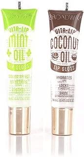 Broadway Vita-Lip Clear Lip Gloss 0.47/14 ml (2PCS - Coconut & Mint Oil)