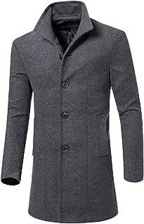 64d7d3400a Amazon.it: Cappotto grigio lana - Uomo: Abbigliamento