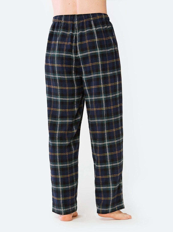 SIORO Pantaloni da Pigiama da Uomo Flanella Pantaloni Lounge in Pigiama a Quadri in Morbido Cotone