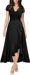 Sponsored Ad - Miusol Women's V Neck Elegant Lace Ruffle Bridesmaid Maxi Dress