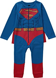 Superman Infant Toddler Boys Costume with Belt and Cape