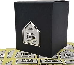 Chawoorim – Etiquetas para envolver velas hechas a mano – cajas de tarro para hacer velas con vela natural especialmente para ti