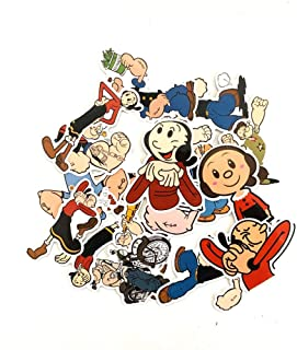 H: 3742 JMHomeDecor Popeye Der Seemann Mit Betty Boop Klassische Filmplakat Bar Retro Dekorative Malerei Leinwand Malerei Poster Rahmenlose Malerei 50X70Cm