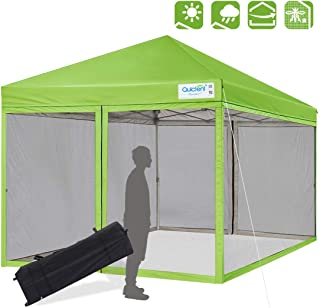 Quictent 8×8 Ft Easy Pop up Canopy with Netting Screen House Tent Mesh Side Walls..