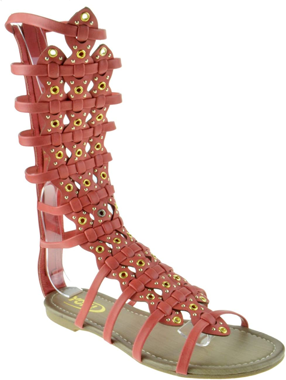 Forvever Myra 2 Max 80% OFF Cheap mail order specialty store Womens Mid Calf Strappy Gladiator San Caged Flat