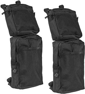 Ewer 2 Pack ATV Fender Bags Waterproof, 600D Oxford Black ATV Tank Saddle Bags