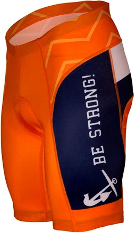 NCAA Hope College Men's Cycling Shorts, Black orange