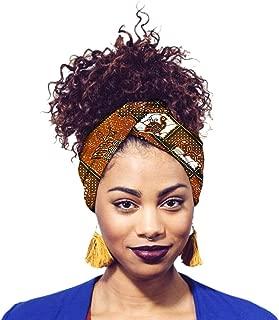 Surkat Traditional African Printing Headwrap Nigerian Headband Headwear Hair Cover(Multicolored)