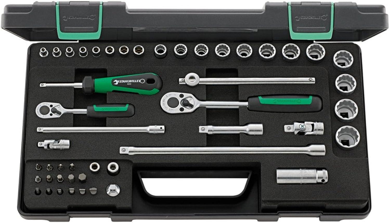 Stahlwille 96012047 Steckschlüsselgarnitur 48-teilig im robusten, stapelbaren ABS-Kunststoffkasten B01FC5I8BA | Hohe Qualität Und Geringen Overhead