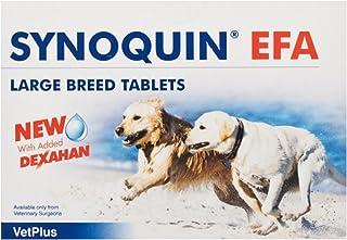 Vetplus Synoquin EFA - Suplemento para perros razas grandes, 120 Comprimidos