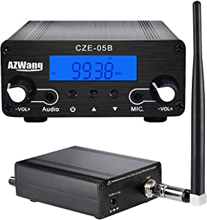 AZWang FM Stereo Transmitter for Church 0.5W/0.1W 76MHz~108MHz LCD FM Transmitter Broadcast Mini Radio Station photo