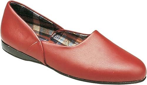 Mirak Mens Jayson Slip-On Leather Textile Inner Slipper schuhe rot