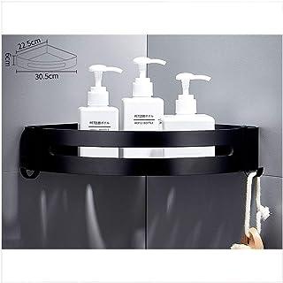 Etagère de salle de bain Salle de bain d'angle étagère en aluminium Espace étagères de douche avec 2 crochets anti-rouille...