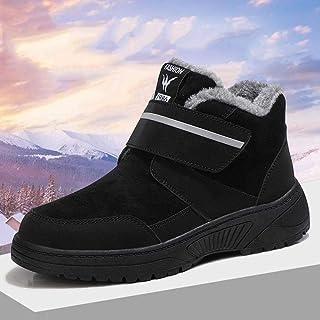 B/H Edema Scarpe gonfiabili Scarpe Invernali in Velcro per Anziani, più Scarpe da Passeggio Calde in Velluto-Nero_40Calzat...