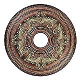 Iluminación Livex 8200–64techo medallón en Palacial bronce con detalles en dorado