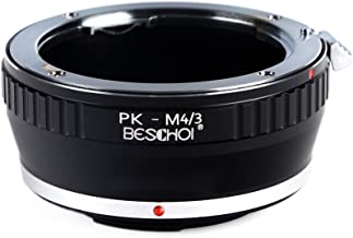 PK to Micro 4/3 Lens Adapter, Beschoi Lens Mount Adapter for Pentax PK K Mount Lens to Micro Four Thirds (MFT, M4/3) System Camera Body, Fits Olympus Pen and Panasonic Lumix Cameras