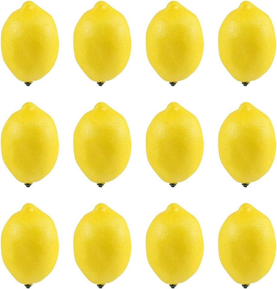 Londegeri 12pcs Fake Fruit Quantity limited New products, world's highest quality popular! Artificial Lemons Lifelike Simulatio