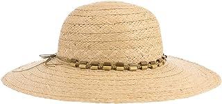 Lipodo Maypearl Paglia Raffia Cappello a Tesa Larga Donna - Cappello Paglia Taglia Unica (55-57 cm) - Cappello da Sole Pro...