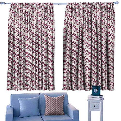 witte gordijnen Decoratieve Gordijnen Voor Woonkamer en slaapkamer Bloemen Hippie Stijl Bloeiende Bloemen met Abstract Kleurrijke Cirkels Patroon Chocolade Roze Paars
