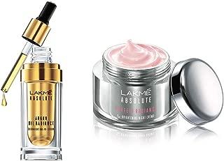 Lakmé Absolute Perfect Radiance Skin Lightening Night Creme, 50g & Lakmé Absolute Argan Oil Radiance Overnight Oil-in-Serum, 15ml