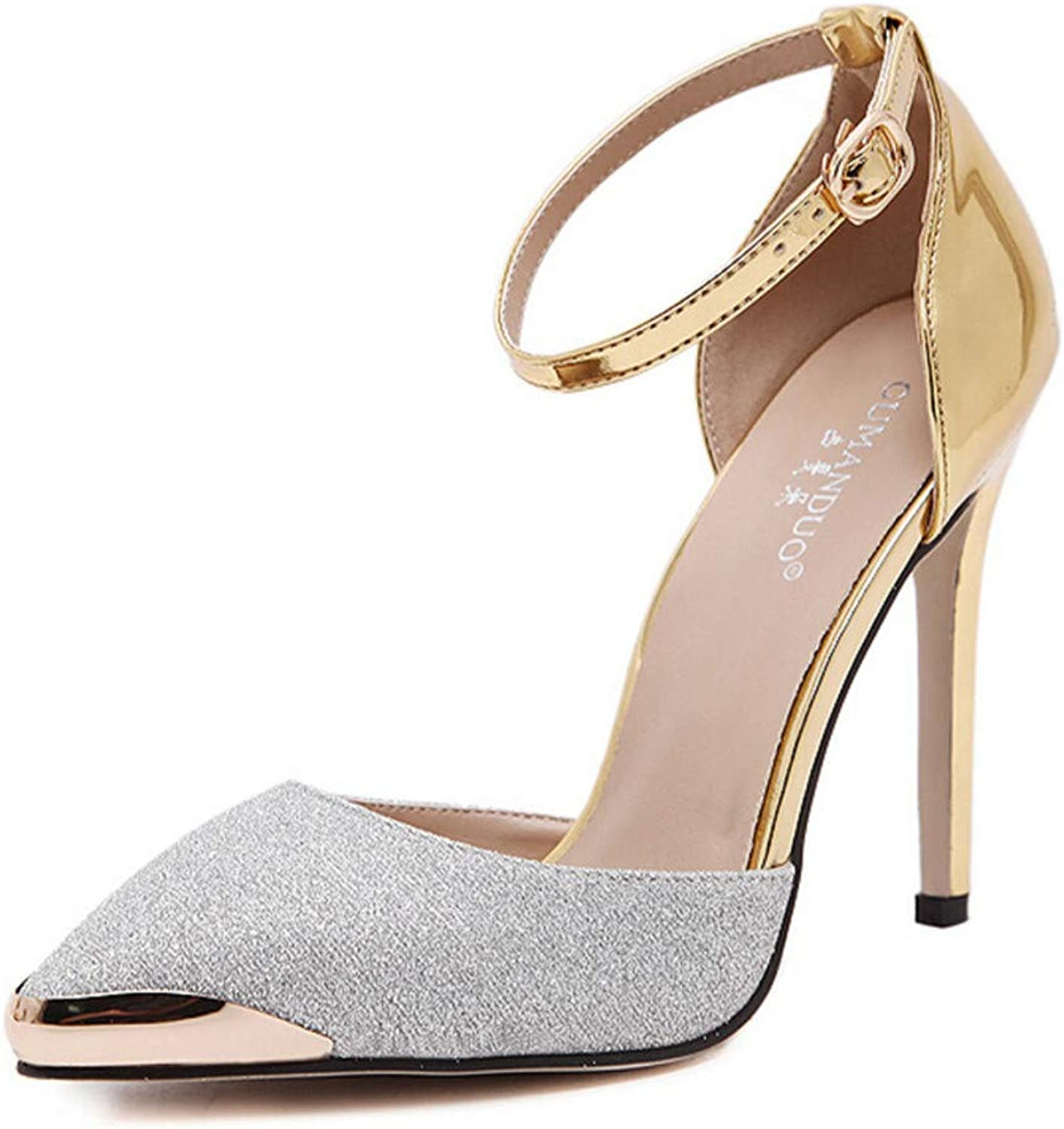 Women's Casual shoes, Single shoes, Stiletto shoes, Pointed shoes, Spring and Summer, Fashion Sexy Button shoes