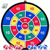 YESMARKS Kids Game Dart Board Set 8 Sticky Balls and 13.8 Inches (35cm) Dartboard - Safe Dart Game - Gift for Kids -...