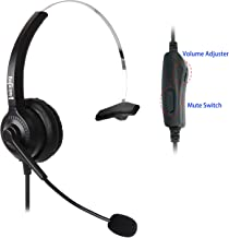 Headset Headphones + Adjustable Volume + Mute Control for Cisco IP Telephone 7940 7970 8841 8851 8861 8941 8945 8961 9951 9971 and All Series